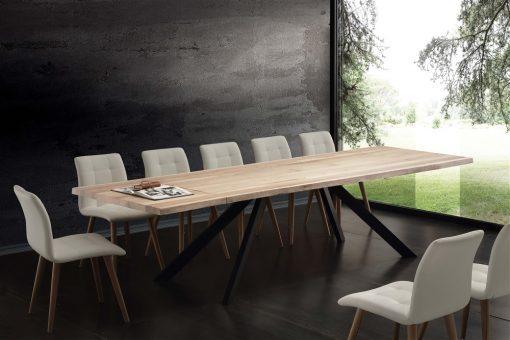 tavolo da cucina allungabile in legno bio metal
