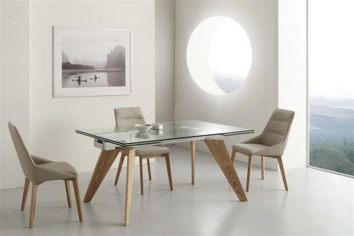 tavolo da cucina allungabile in vetro origami