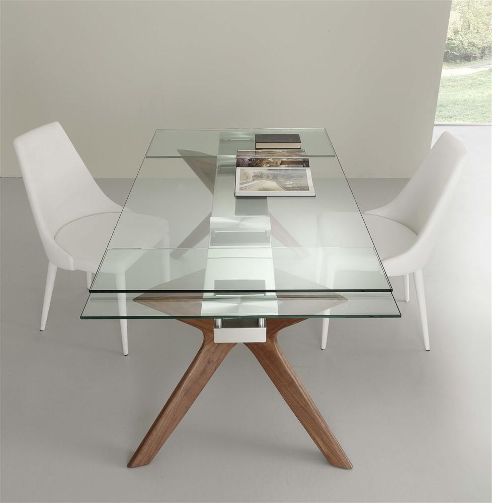 tavolo da cucina allungabile in vetro palladio 2