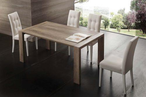 tavolo da cucina in legno allungabile moderno