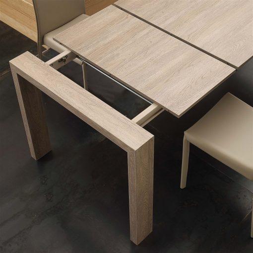 tavolo da cucina in legno allungabile moderno rovere