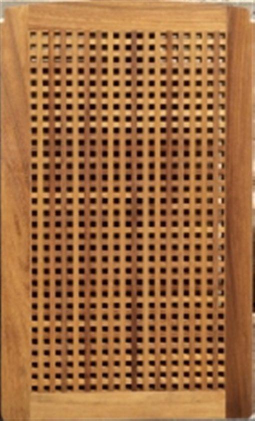 carabottino iroko con cornice foro 15mm spessore 27mm