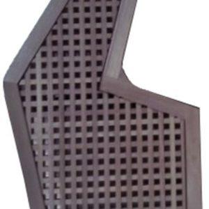 Carabottino iroko sagomato 1 metro quadro con cornice 27 mm foro 15 mm – CO33