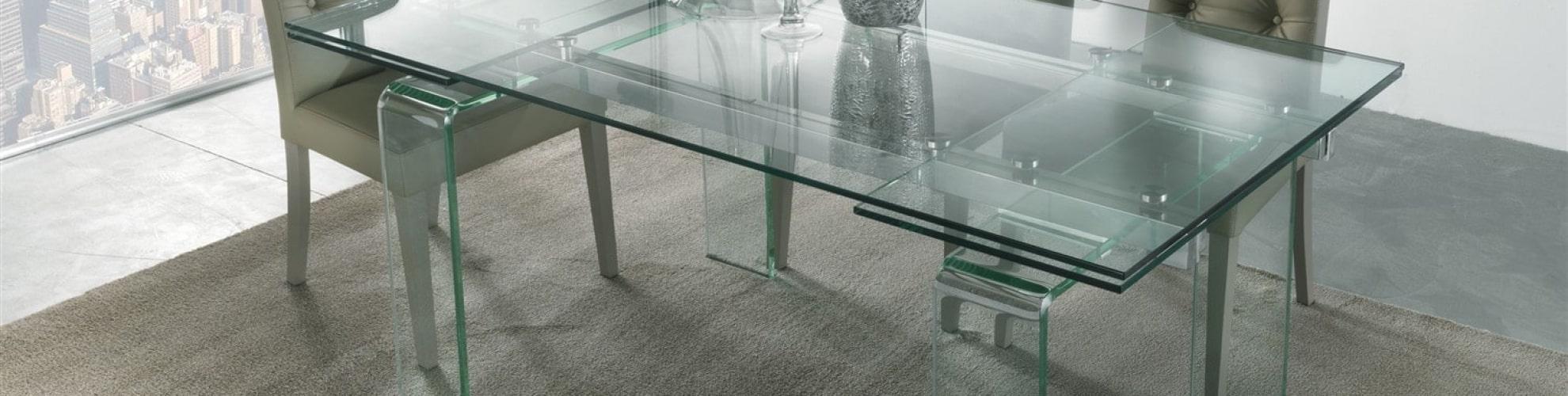 tavolo da pranzo allungabile in vetro