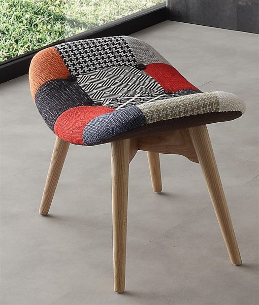pouf moderno patchwork sweet home