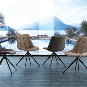 Set 4 sedie in eco o tessuto – Grana