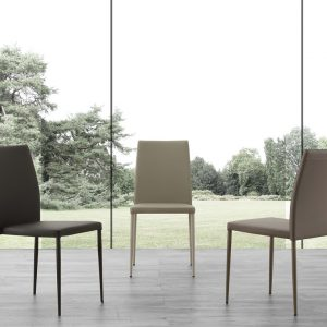 Set 4 sedie da cucina impilabili in ecopelle Naked – SG1652