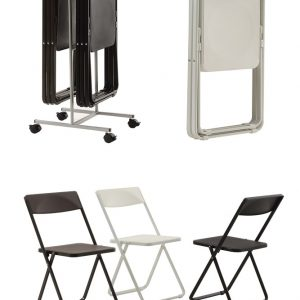 Set 4 sedie pieghevoli in polipropilene – Tepice