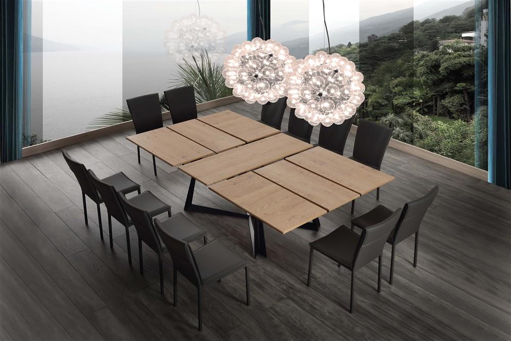 tavolo da cucina allungabile tetris dettagli