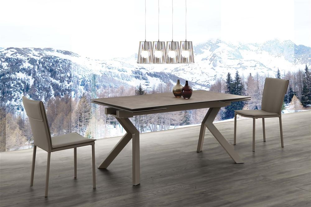 Tavoli Da Cucina Design.Tavolo Allungabile In Vetro Ceramica Parbat Emporio3 Arredamenti