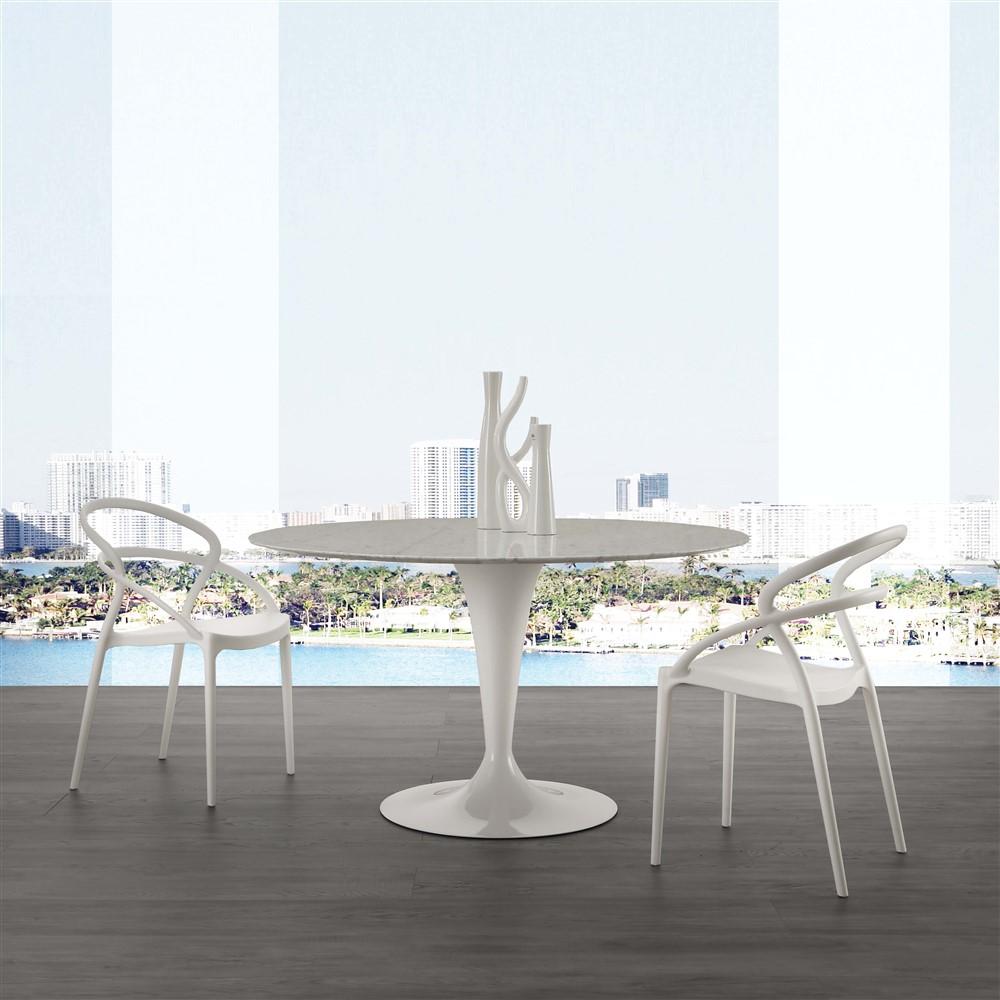 Tavolo rotondo fisso in marmo - Makalu