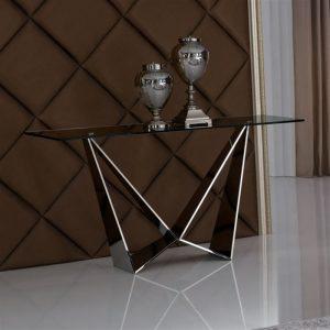 Consolle mizar metallo piano in vetro trasparente – ITA68