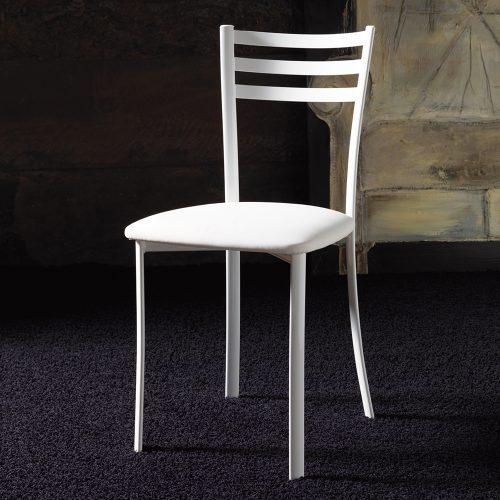 sedia da cucina la seggiola jody laccato bianco