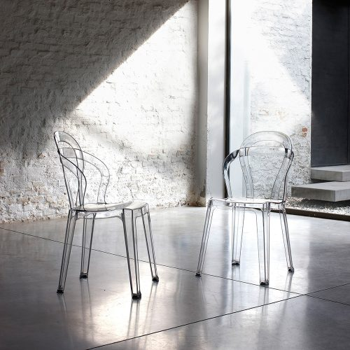 sedie trasparenti la seggiola rainbow
