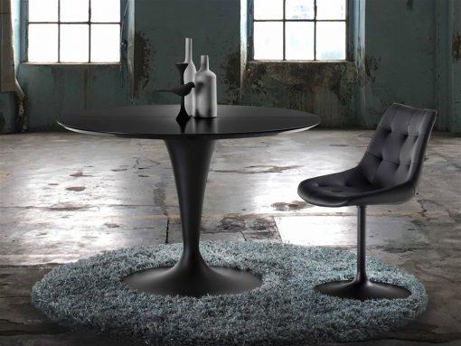 tavolo rotondo allungabile nero island La seggiola