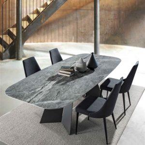 Tavolo rettangolare fisso in gres porcellanato – Berro