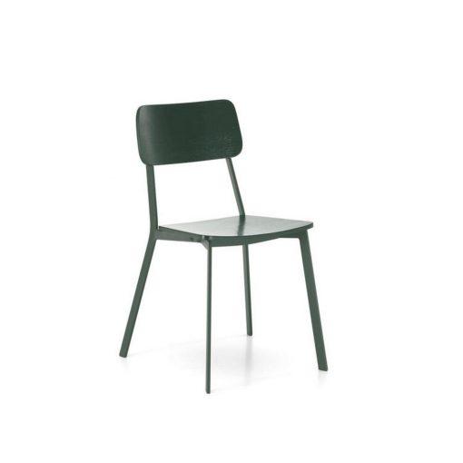 sedia in legno woody verde