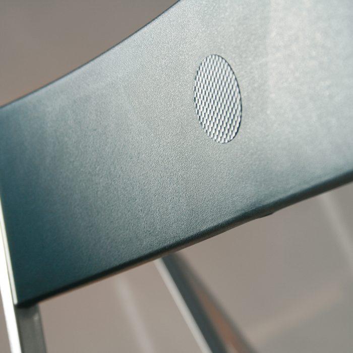 sedie pieghevoli La Seggiola steel titanio
