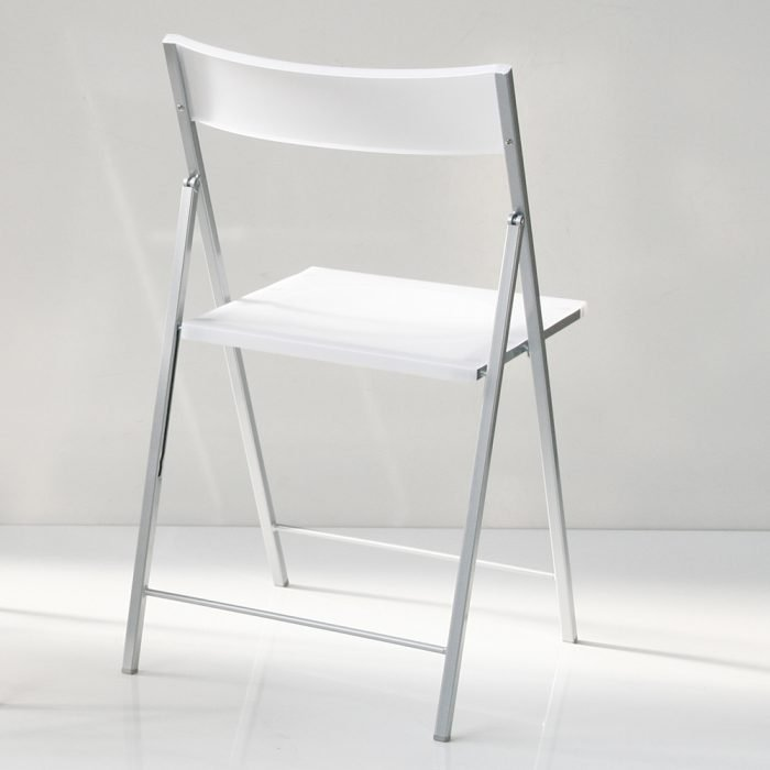 sedie pieghevoli La Seggiola steel bianche